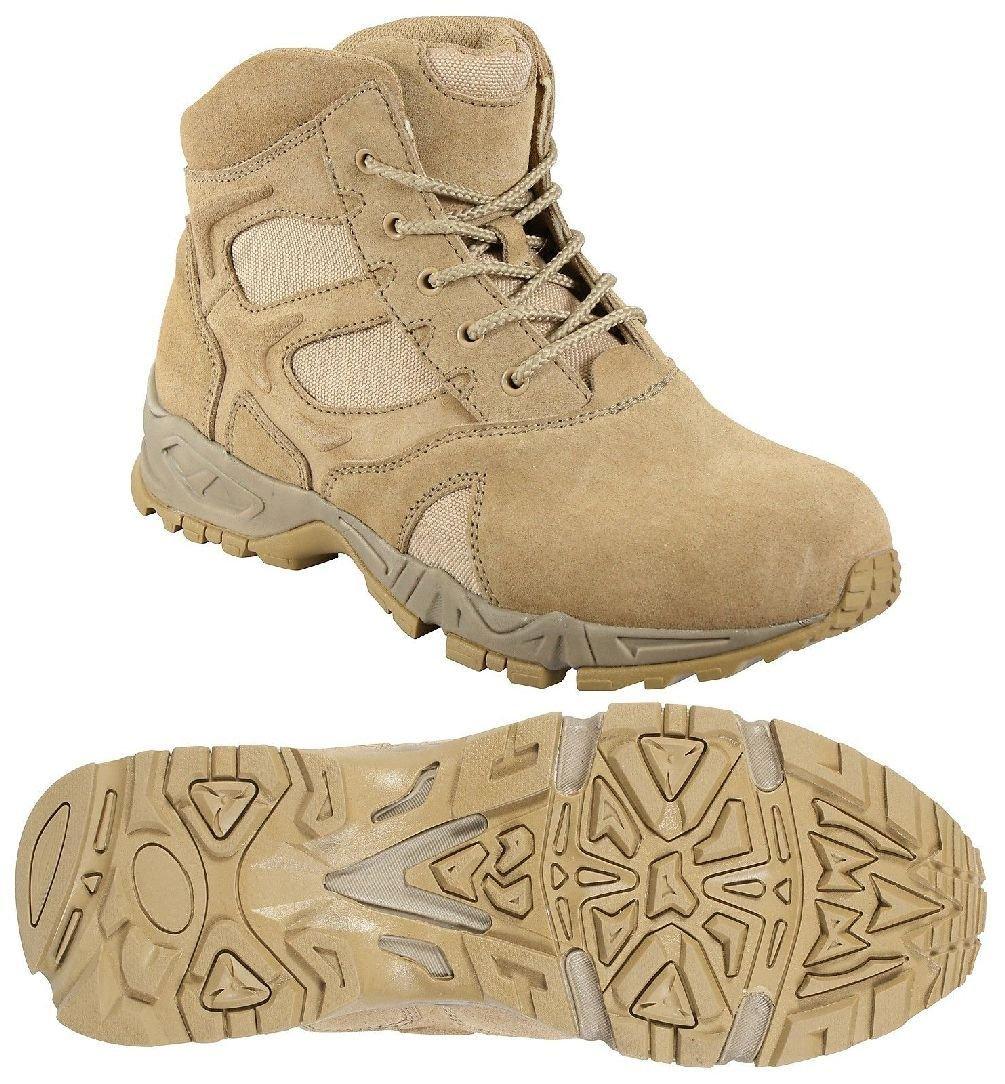 Desert Tan 6'' Military Lightweight Deployment Boot - Tactical Footwear / 5-13