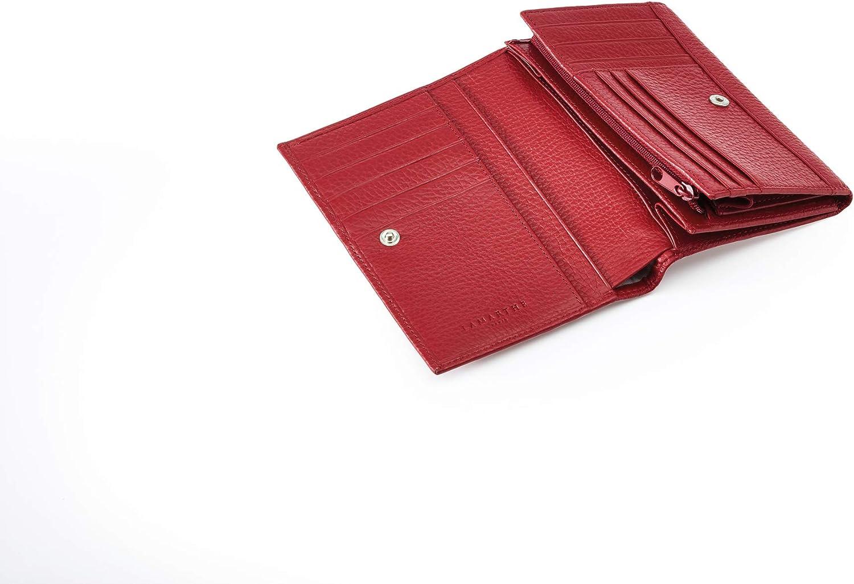 rouge avec beaucoup de place pour les cartes Portefeuille /él/égant pour les femmes cuir LAMARTHE PARIS