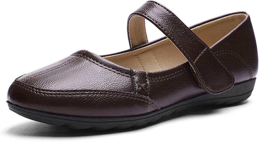 CINAK Comfort Mary Jane Flats for Women- Walking Casual Slip-on Loafers Shoes