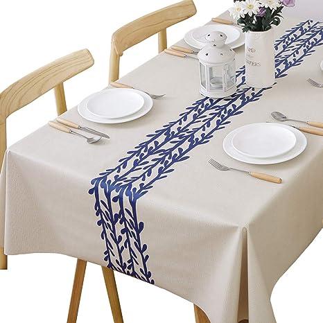 Amazon Com Jzy Heavy Duty Vinyl Table Cloth For Kitchen Dining
