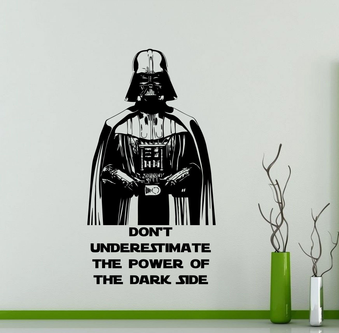 Star Wars Wall Decals Darth Vader Poster Don't Underestimate The Power Of The Dark Side Vinyl Sticker Home Teen Star Wars Character