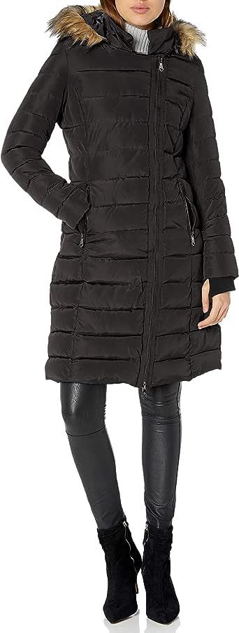 Nanette Lepore Womens Puffer Jacket Down Alternative Coat