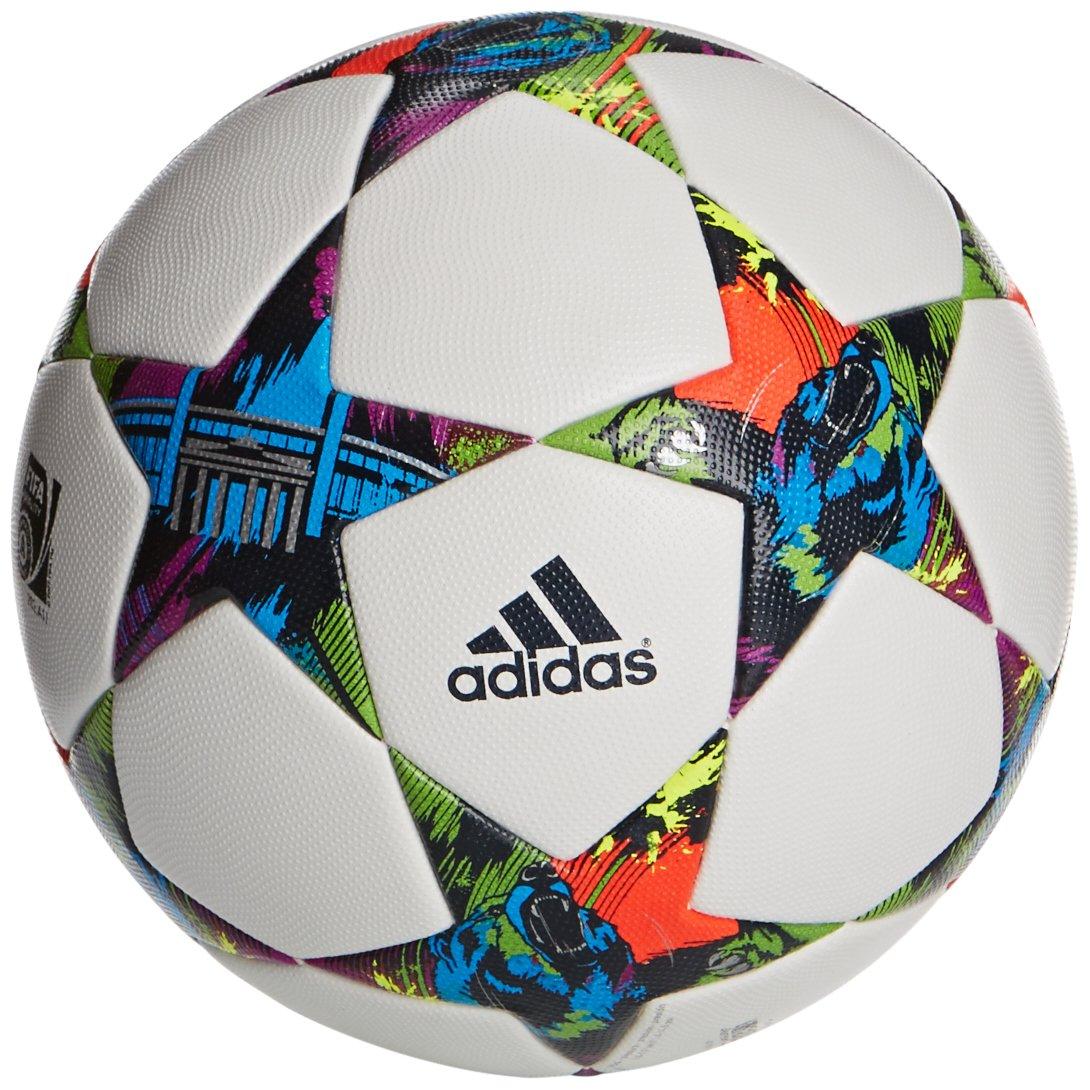 adidas Fussball Finale Berlin OMB, White/Solar Blue2 S14/Flash Green S15,  5, M36915: Amazon.de: Sport & Freizeit