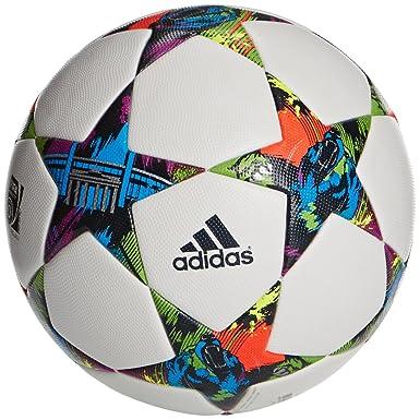 64b3d0ee1b03d adidas Finale Berlin OMB Football Size 5 White/Solar Blue 2 S14/Flash Green
