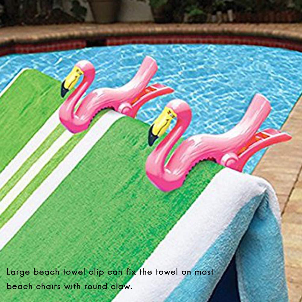 Bozaap Plastic Towel Clips Animal Beach Towel Clamp Clothes Pegs Drying Racks Retaining Clip
