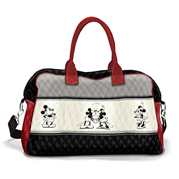 7b6873f96967 Amazon.com  Disney Love Story Mickey Mouse And Minnie Mouse Quilted  Weekender Tote Bag by The Bradford Exchange  Home   Kitchen