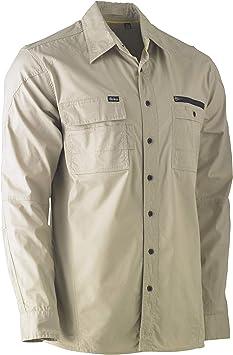 Bisley Workwear UKBS6144_BSTN Camisa de trabajo flexible y de ...