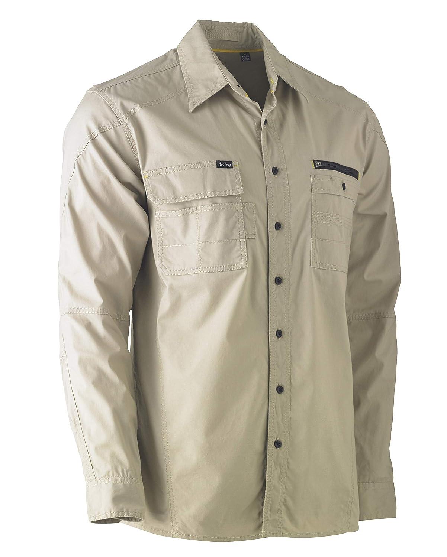 Bisley Workwear UKBS6144/_BCCG Flex /& Move Utility Shirt 145GSM Long Sleeve-Charcoal M
