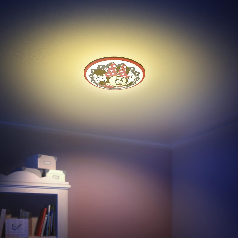 weiß Philips Disney LED Deckenleuchte Minnie 7,5 W rot 717613116 schwarz