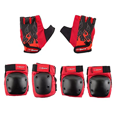 Kidzamo HD Elbow/Knee Pad & Glove Set Flame: Toys & Games