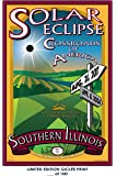 RARE POSTER thick SOLAR ECLIPSE movie 2017 southern illinois university REPRINT #'d/100!! 12x18