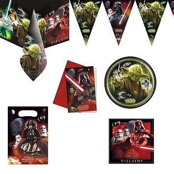 Mega Pack Anniversaire Star Wars 12 à 16 Personnes Décoration Fête