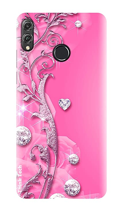 super popular d7fc4 7fa57 Think Tech Huawei Honor Play Printed Hard Back case Cover I Honor Play  Designer Stylish Case - Pink Fancy Cute Stone Woman Girl