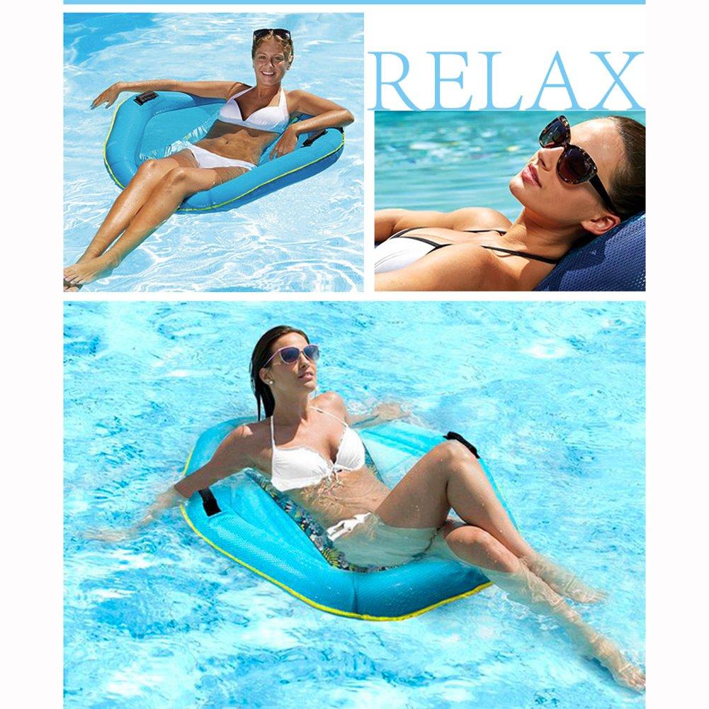 Wasser Hängematte Swimming Swimming Swimming Pool Beach Floating Liege Liege Float Raft Stuhl Aufblasbare PVC Badematte b80138