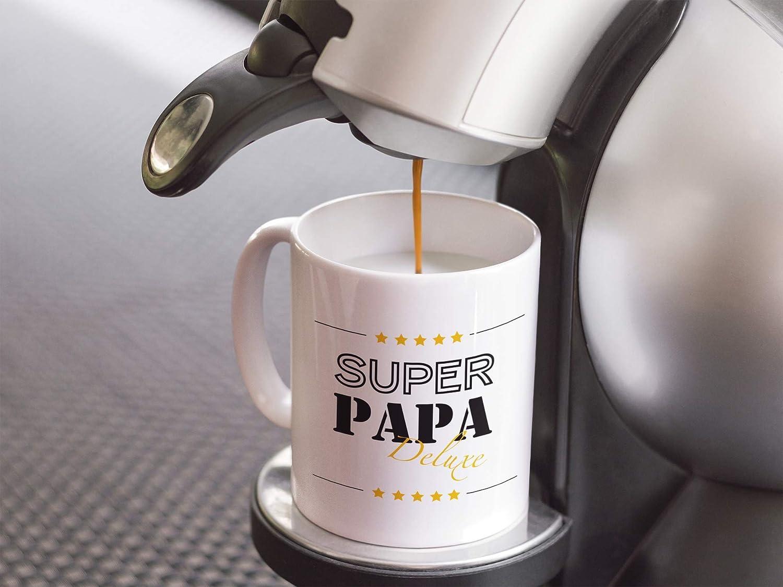 Tazza con scritta I Super Papa Deluxe I Geburtstag Shirtinator Papa idea regalo per la festa del pap/à