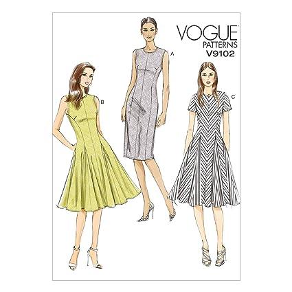 c2d68d124 Image Unavailable. Image not available for. Color: Vogue Patterns V9102  Misses'/Misses' Petite Dress ...