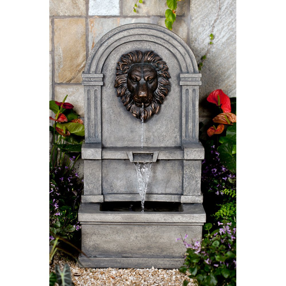 Jeco Classic Lion Face Stone Finish Wall Water Fountain by Jeco Inc.