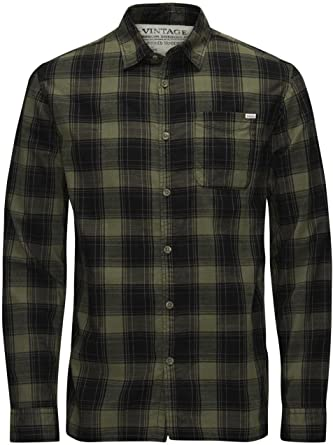 JACK & JONES VINTAGE JJVMERRICK SHIRT L/S ONE POCKET, Camisa Hombre, Multicolor (Grape Leaf), Medium: Amazon.es: Ropa y accesorios