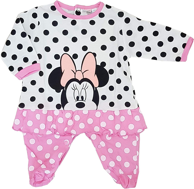 Tutina Minnie con Piedini in Cotone Jersey Disney per neonata Vari Modelli