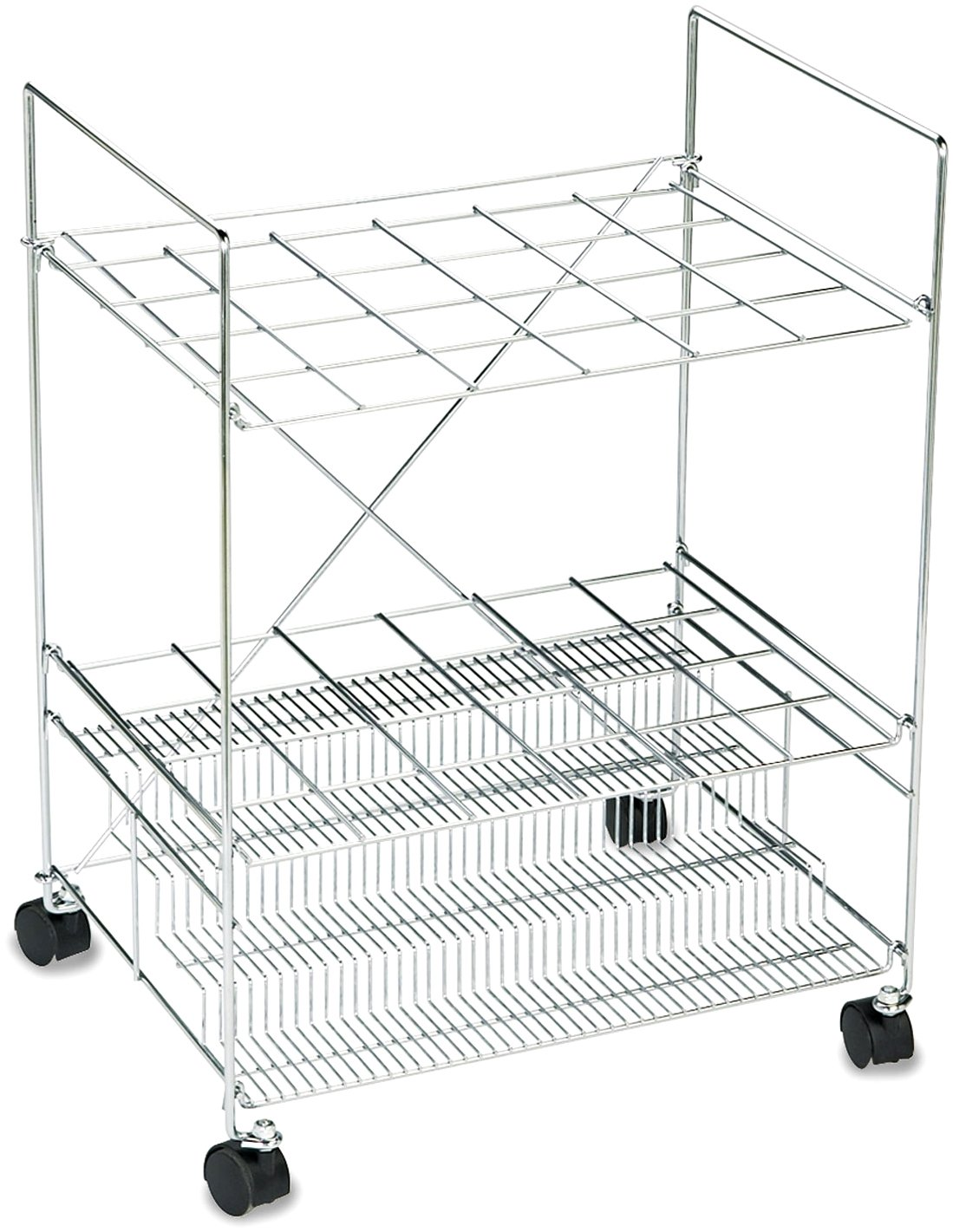 Safco Products Chrome Wire Roll File, 24 Compartment, Chrome by Safco