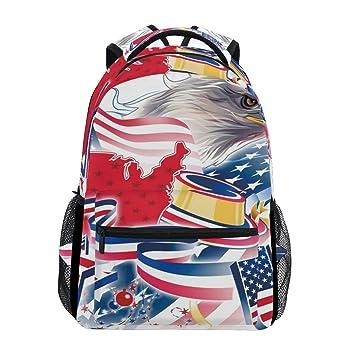 d9fdfcb7e22 ... July Independence Day School Backpack Large Capacity Canvas Rucksack  Satchel Casual Travel Daypack for Adult Teen Women Men Children   Kids   Backpacks