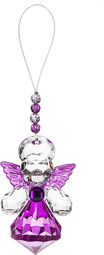 "Ganz Crystal Expressions 8/"" Ornamental Hanging Cross w//Purple Acrylic Stones"