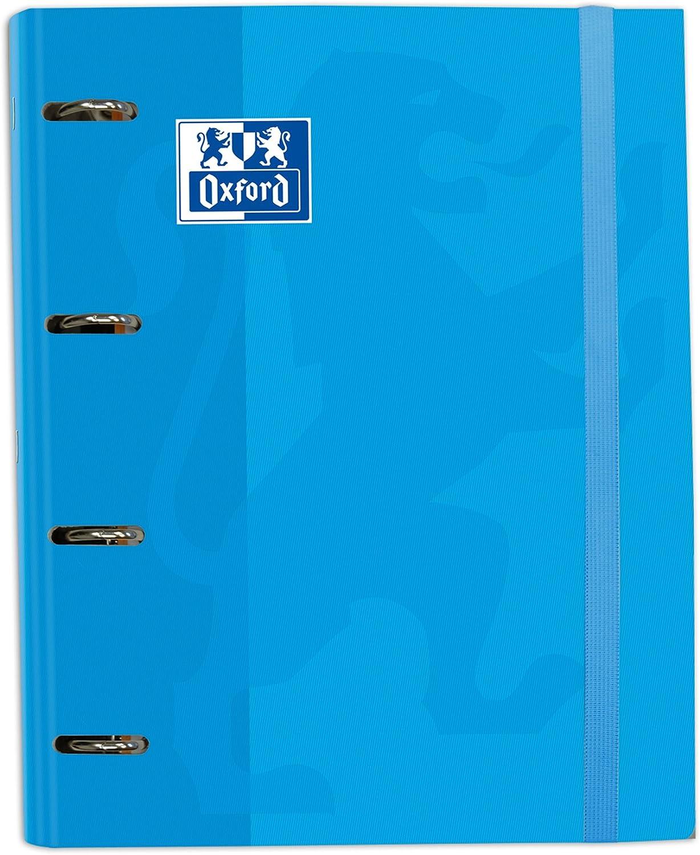 Oxford School - Cuaderno con recambio, A4, color turquesa