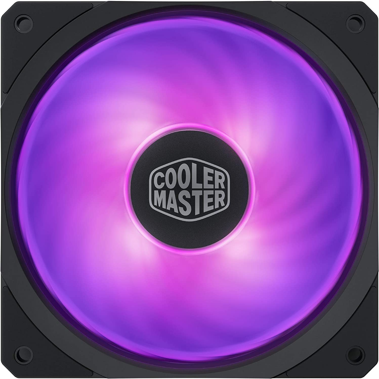 Cooler Master MasterFan SF120R RGB 120mm Square Frame Fan w/Hybrid Airflow Blade, Cable Management and PWM Control Fan for Computer Case, Liquid and Air Cooler