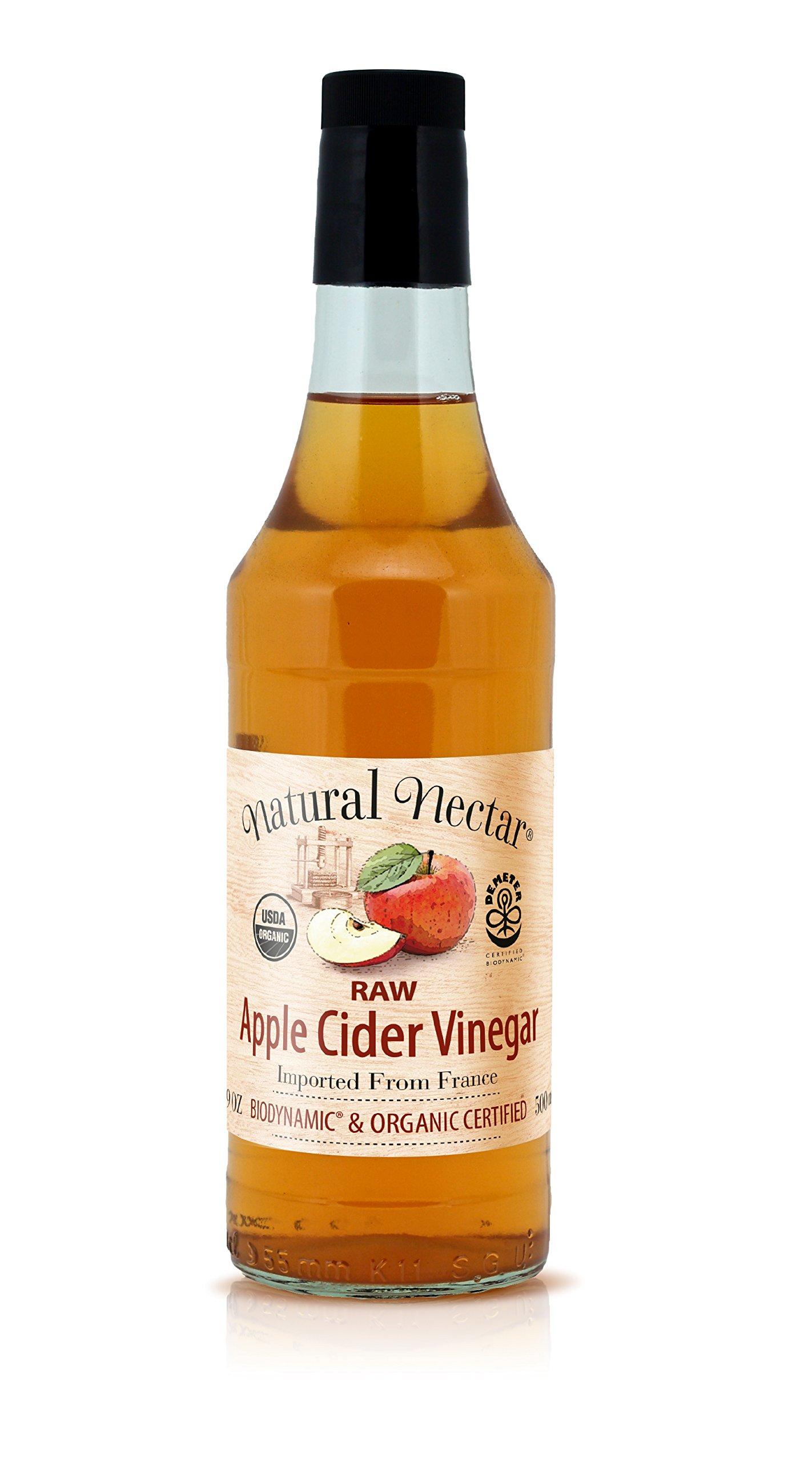 Natural Nectar Demeter Usda Organic & Biodynamic Raw Apple Cider Vinegar, 16.9 Ounce (Pack of 6)