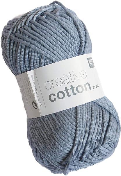 Rico Creative Cotton Aran FB. 18 Azul Gris, Hilo de algodón para ...
