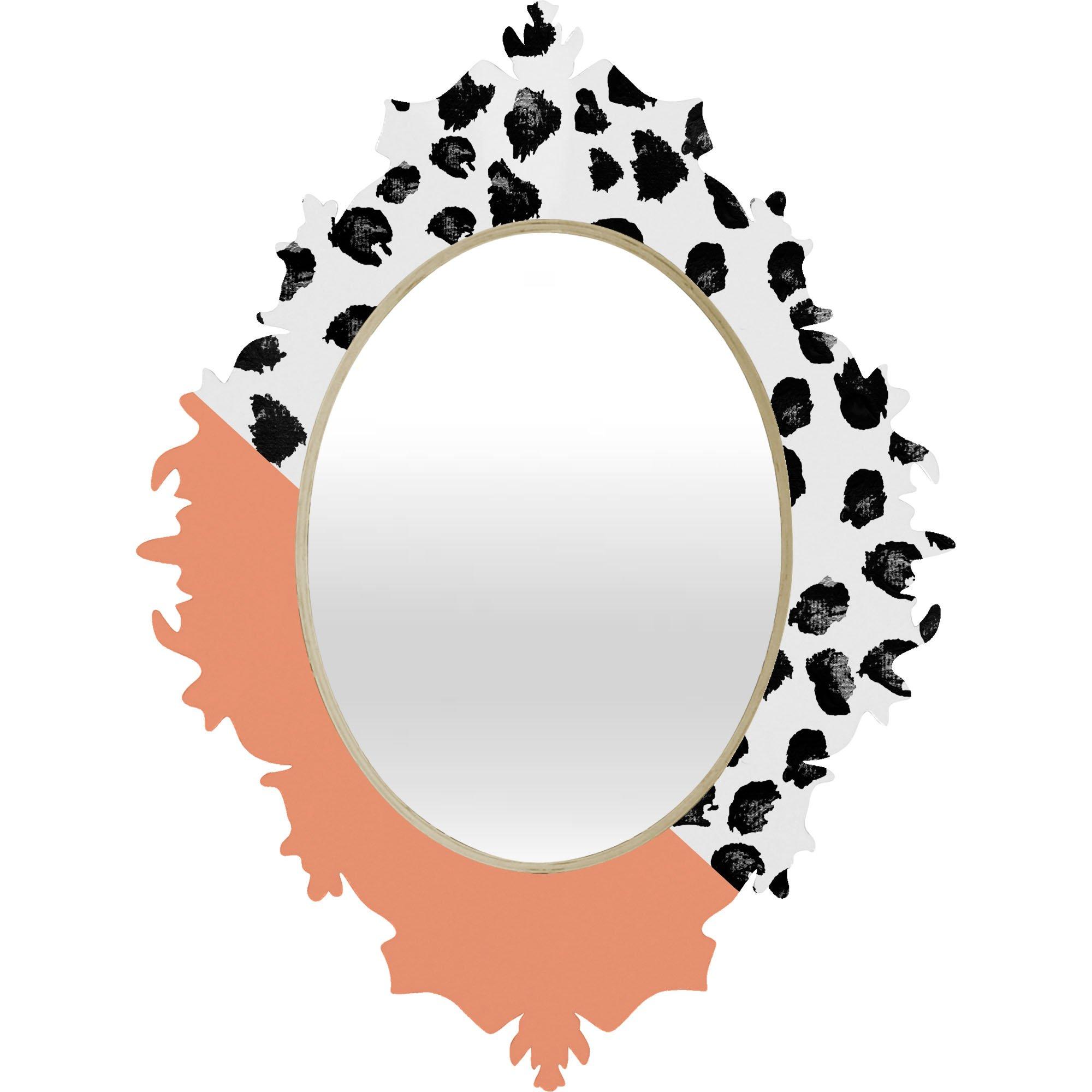 Deny Designs Rebecca Allen Animal and Peach Baroque Mirror, Small