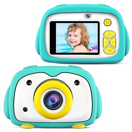 ShinePick Camara Digital Niños, 12MP / 2 Lentes de Cámara / 1080P / Zoom Digital de 4X / Tarjeta de Memoria / 2