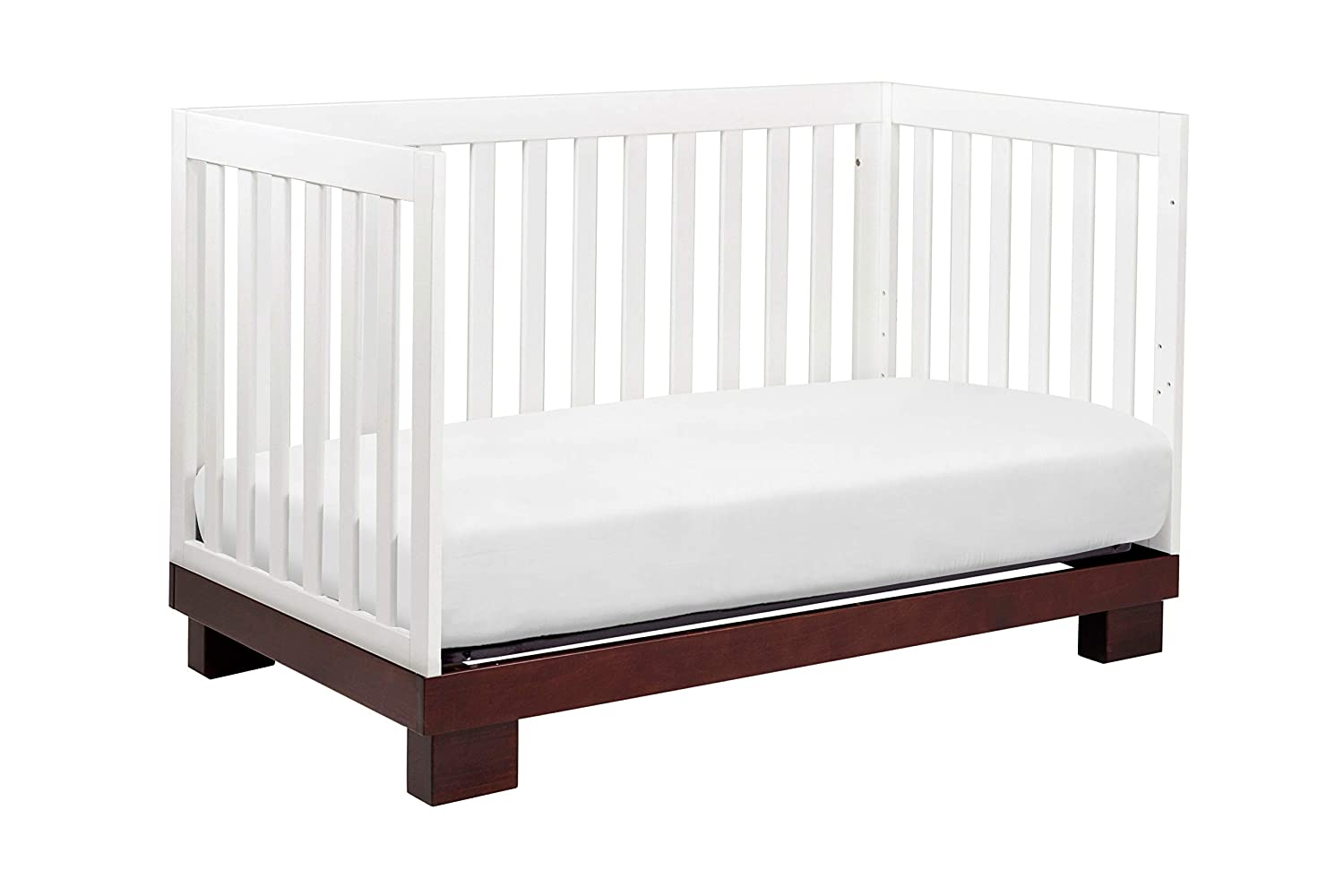 Babyletto Modo 3-in-1 Convertible Crib with Toddler Bed Conversion Kit Grey