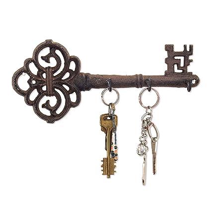Amazon.com: Decorative Wall Mounted Key Holder   Vintage Key With 3 ...