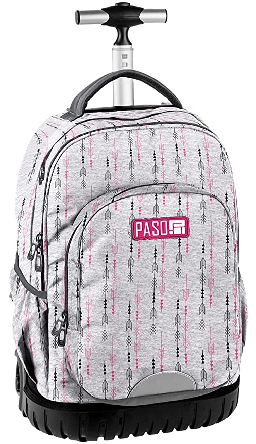 dettagliare 502cd 968c9 Paso Arrows Grande Zaino con Ruote Trolley Ragazza Scuola Media, Elementare