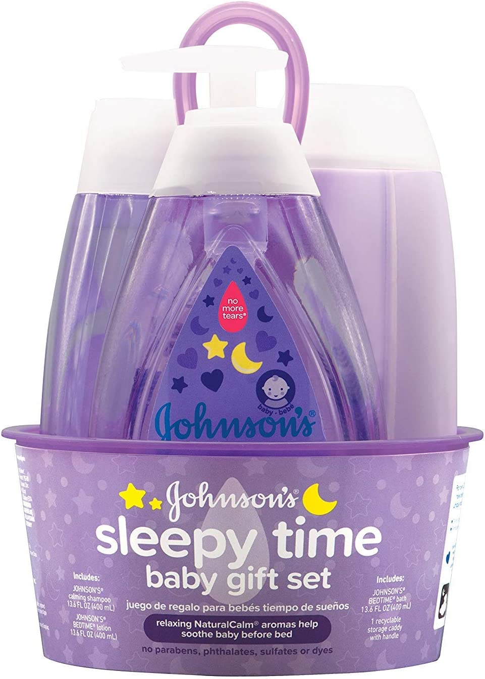 Johnsons Sleepy Time Baby Gift Set with Relaxing NaturalCalm Aromas Bedtime Baby Essentials 4 items Hypoallergenic /& Parben-Free