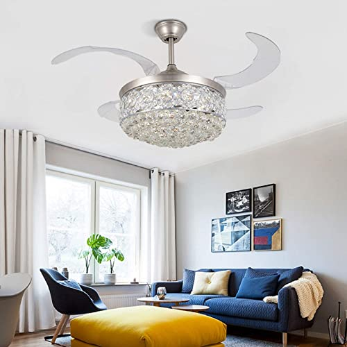 42 inch Modern Crystal Ceiling Fan