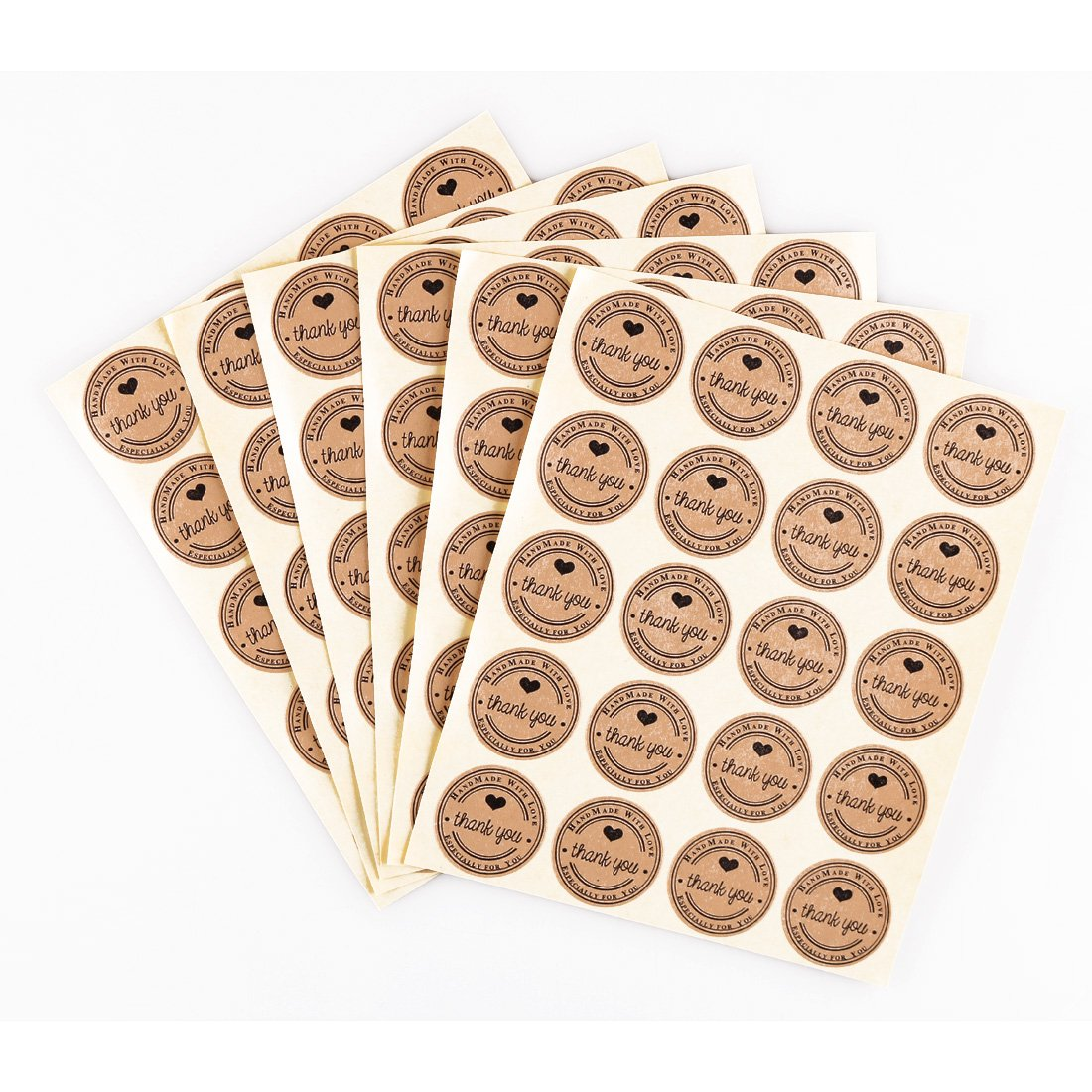 240pcs 25mm thank you round kraft paper sticker wedding cheap custom stickers factory supplies amazon co uk office products