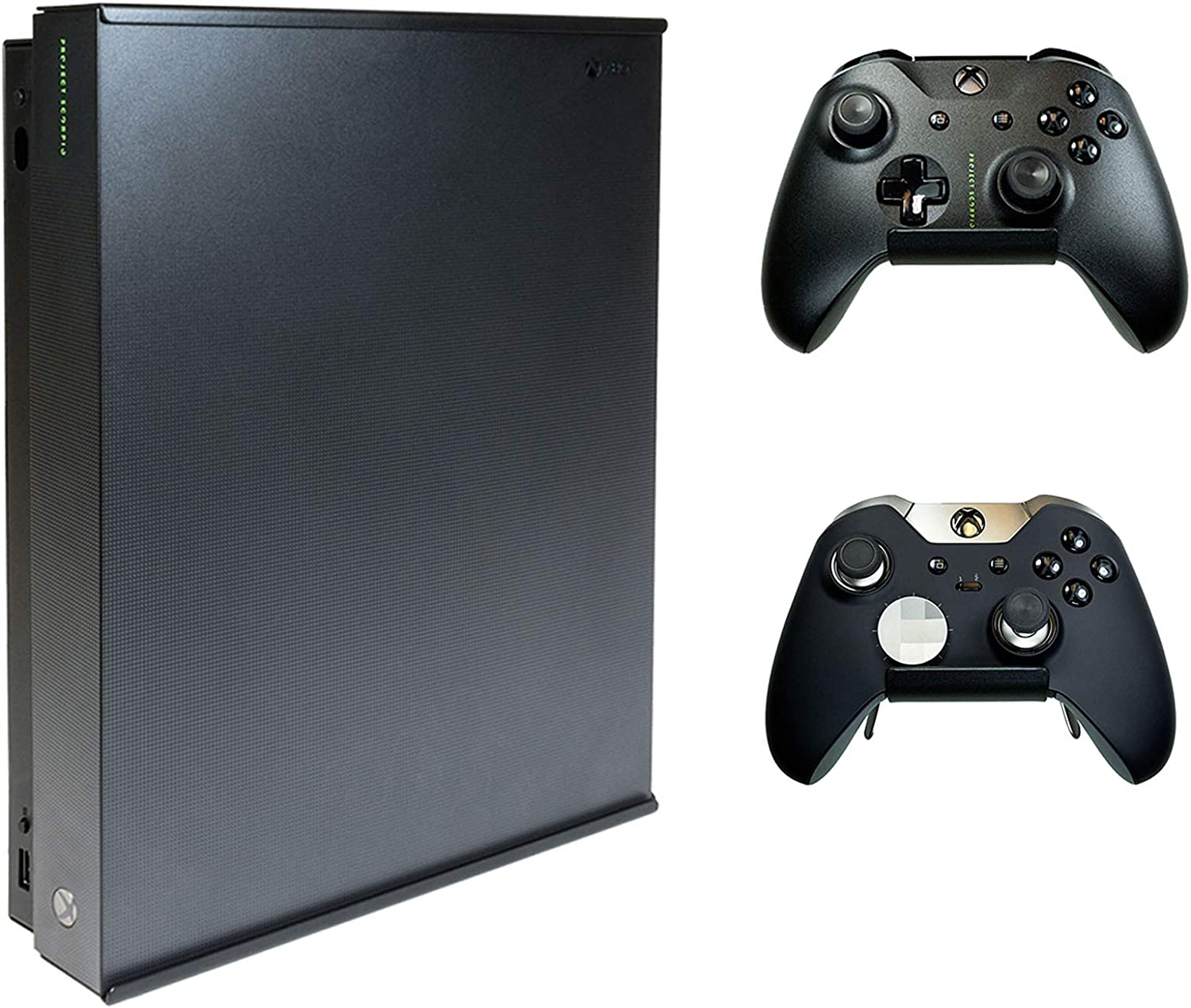 HIDEit X1X Xbox One X Wall Mount and (2) Controller Wall Mounts (Xbox One X Bundle) - HIDEit Behind the TV or DISPLAYit - Made in the USA and Trusted Worldwide Since 2009