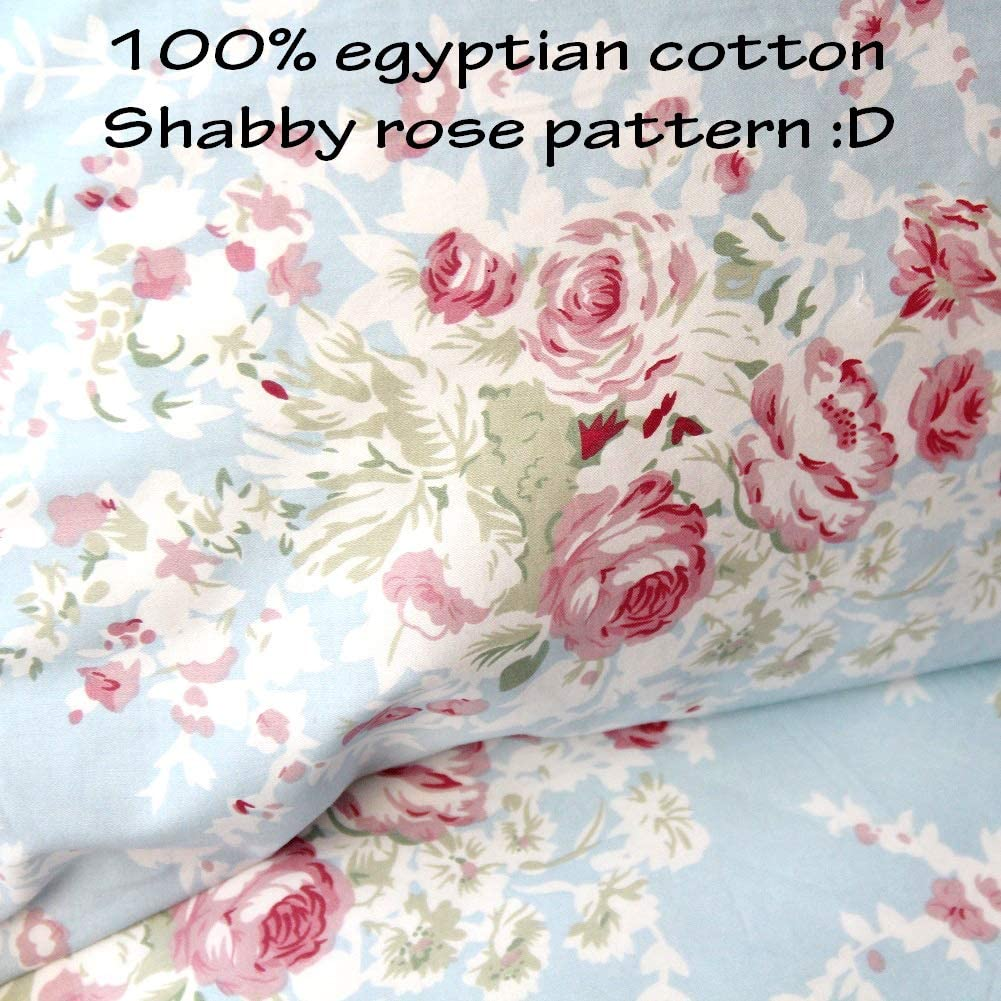 QSH Queen/'s House Ruffled Gray Bed Sheets Set Shabby Deep Pocket Bedding Set Twin Size