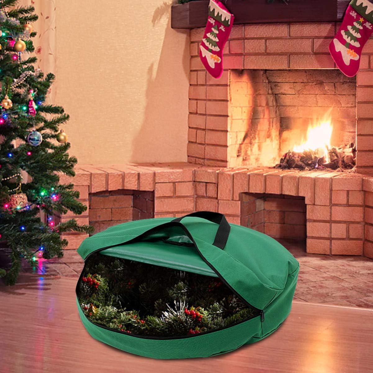 Decorazioni natalizie utilizzate per riporre alberi di Natale e decorazioni natalizie o altri oggetti o per andare in campeggio borse portatili impermeabili e resistenti allusura . 43 x 43 x 43 cm