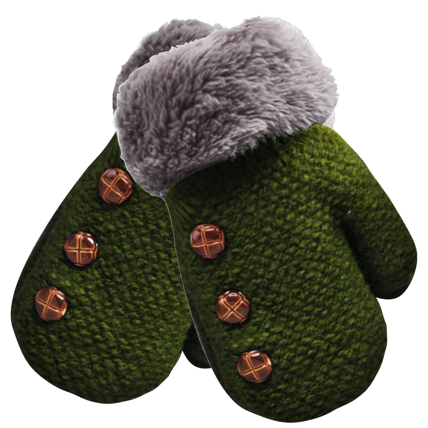 Beetest-EU-Cute Winter Warm Kid Baby Children Boy Girl Glove Green