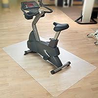casa pura Vloermat/onderlegmat voor hometrainer, ergometer, crosstrainer en andere fitnessapparaten, 75 x 120 cm