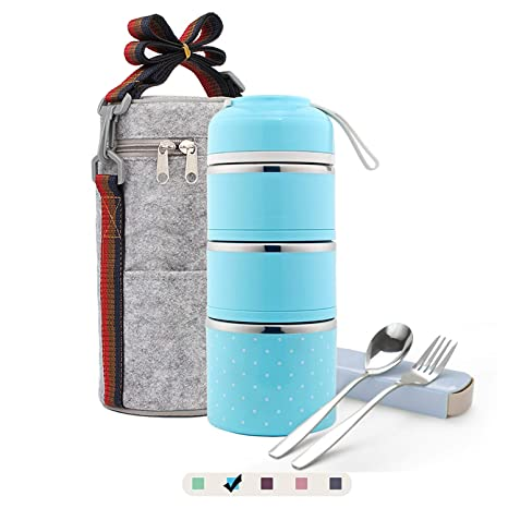 Amazon.com: ArderLive - Fiambrera apilable de acero ...