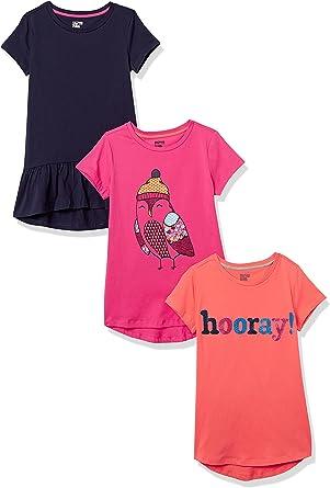 Spotted Zebra Girls' Short-Sleeve Tunic T-Shirts