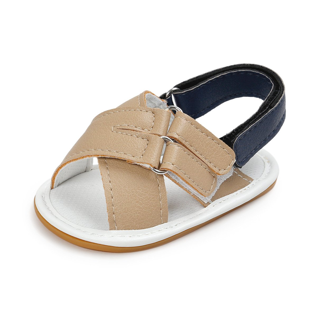 QGAKAGO Baby Girls Boys PU Leather Open Toe Rubber Sole Infant Toddler Summer Sandals Shoes FQ-6X5Y-37ZS