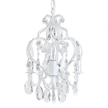 newest collection 716db e7b02 Tadpoles 3-Bulb Vintage Plug-In or Hardwired Mini-Chandelier, White Diamond