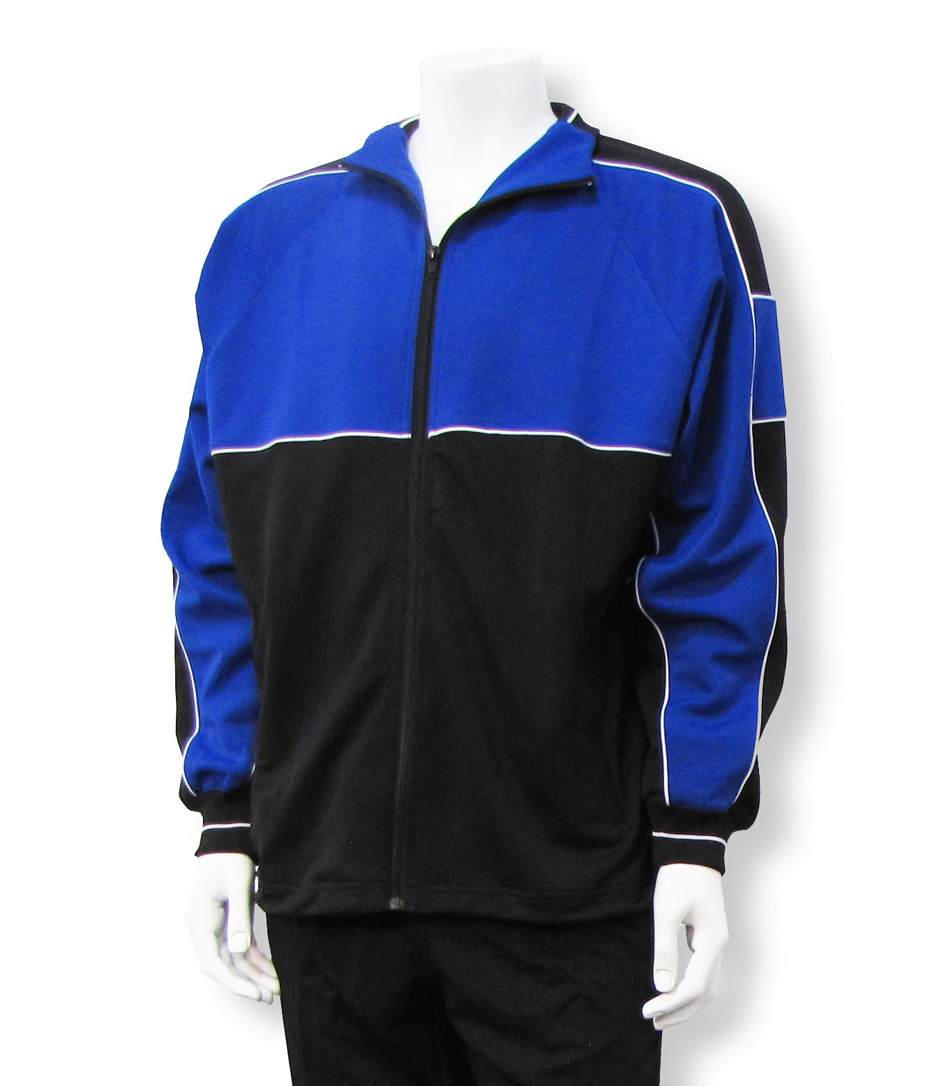 Code Four Athletics Sparta soccer poly-knit warmup jacket - size Adult XXL - Royal/Black by Code Four Athletics
