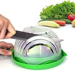 Salad Cutter Bowl Upgraded Maker By WEBSUN Easy Fruit Vegetable Fast Fresh