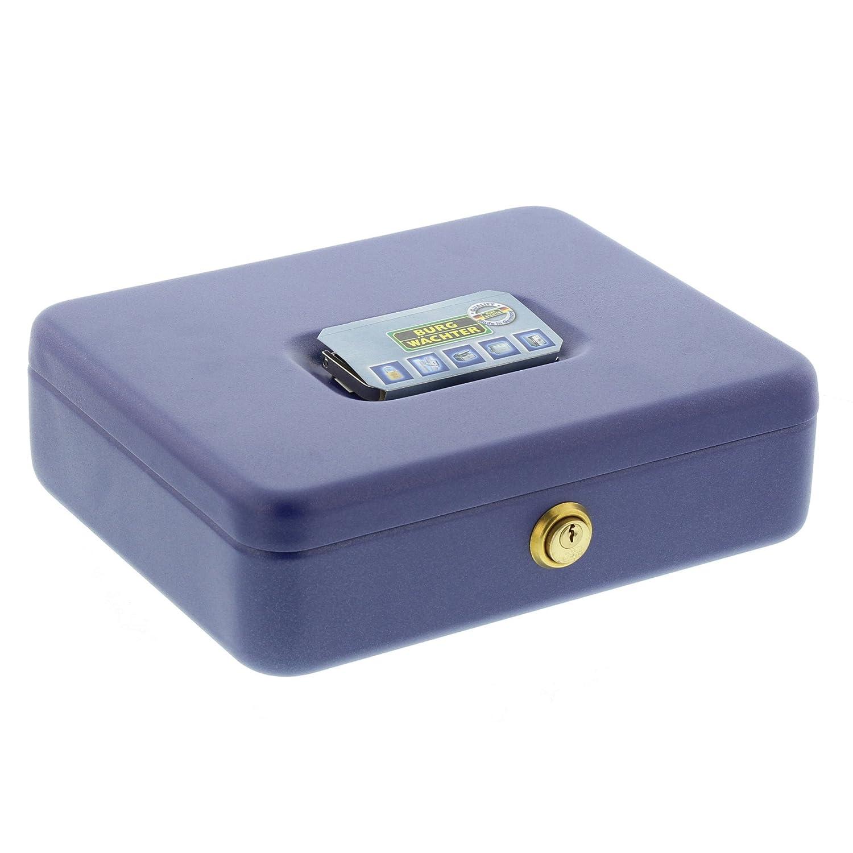 Stahlblech Universa CKS 167 Blau BURG-W/ÄCHTER Geldkassette mit Zylinderschloss
